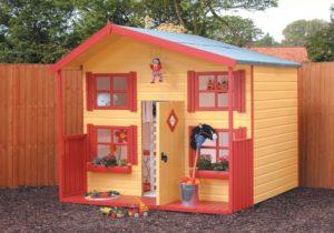 Как построить детский домик на дачу своими руками