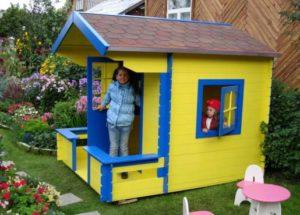 построить детский домик на дачу