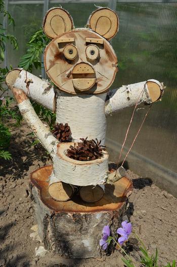 Смешарики своими руками из спилов дерева 34